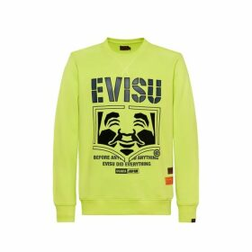 Evisu Sweatshirt With Godhead Flocking Print