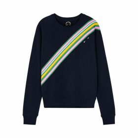 The Upside Club Bondi Navy Cotton-jersey Sweatshirt