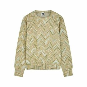 M Missoni Metallic-knit Logo Sweatshirt
