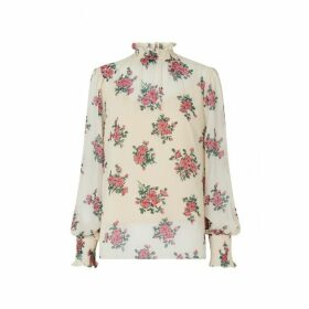 Kitri Meredith Floral Print Blouse