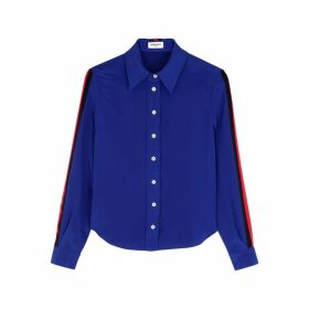 Serena Bute Blue Striped Silk Shirt