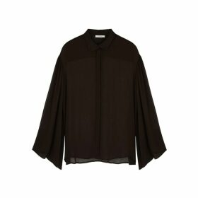 THE ROW Sarabeth Brown Chiffon Shirt