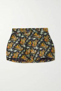 Sies Marjan - Genevieve Belted Asymmetric Glittered Crepe Top - Black