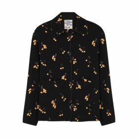 Baum Und Pferdgarten Benji Black Printed Crepe Shirt