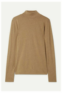 Handvaerk - Pima Cotton And Alpaca-blend Jersey Turtleneck Top - Tan