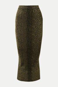 Alexander Wang - Animal-print Chenille Midi Skirt - Army green