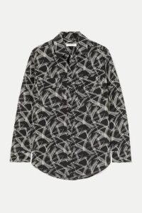 EQUIPMENT - Signature Printed Silk Shirt - Black