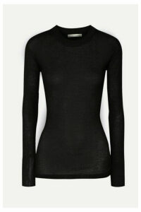 BITE Studios - Ribbed Organic Cotton-jersey Top - Black
