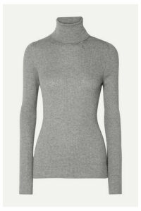 Handvaerk - Ribbed Pima Cotton And Alpaca-blend Turtleneck Sweater - Gray