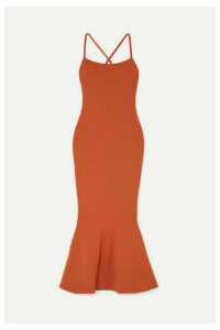 Solace London - Verla Stretch-crepe Midi Dress - Brown
