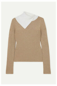 See By Chloé - Two-tone Ribbed Wool Sweater - Beige