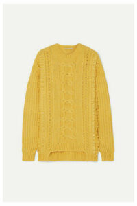 Stella McCartney - Oversized Cable-knit Alpaca-blend Sweater - Yellow