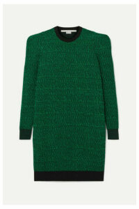 Stella McCartney - Striped Wool-jacquard Dress - Green