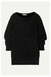 Michael Kors Collection - Ruched Ribbed Cashmere Sweater - Black