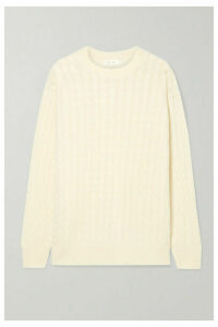 The Row - Minorj Cable-knit Cashmere And Silk-blend Sweater - Cream