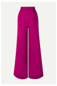 Rebecca de Ravenel - Wool-crepe Wide-leg Pants - Magenta