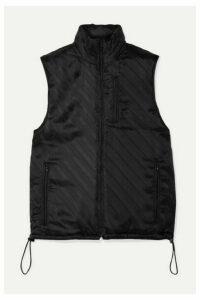 Commission - Shell-jacquard Vest - Black