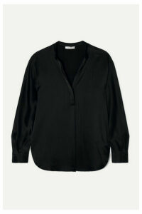 Vince - Silk-satin Blouse - Black