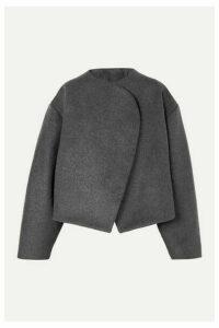 Totême - Bellac Cropped Wool-blend Jacket - Gray
