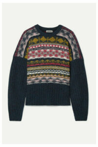 Jason Wu - Fair Isle Merino Wool-blend Sweater - Black