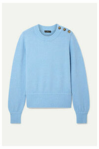 J.Crew - Button-detailed Knitted Sweater - Light blue