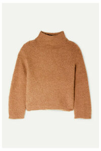 Vince - Textured Wool-blend Turtleneck Sweater - Tan