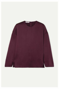 Vince - Silk-satin Blouse - Grape