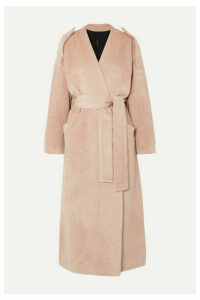 Petar Petrov - Moscow Belted Alpaca And Wool-blend Coat - Pink