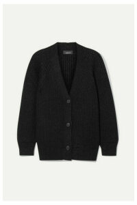Akris - Oversized Ribbed Cashmere-blend Lurex Cardigan - Black