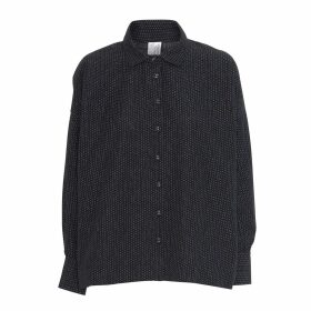 McVERDI - Oversize Black Shirt With Small Dots