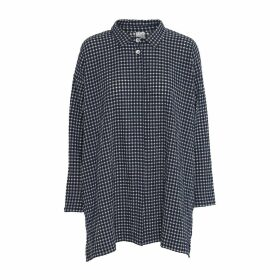 McVERDI - Oversize Checkered Tunic Shirt