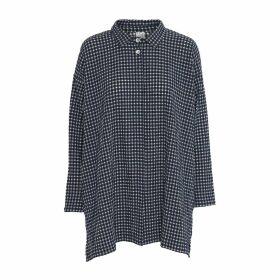 McVERDI - Oversize Checkered Tunic Shirt