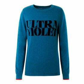 Fanclub - Ultra Violet 100% Merino Wool Slogan Jumper