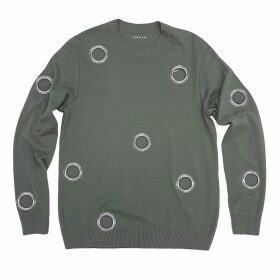 Petja Zorec - Grey Eyelet Sweater
