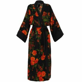 PHOEBE GRACE - Cyril Roll Neck Top in Green Leaf Print