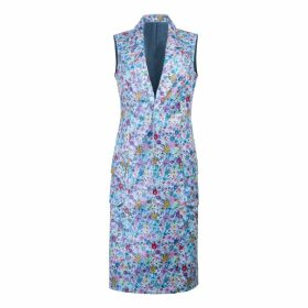 PHOEBE GRACE - Cyril Roll Neck Top in Blue Poppy Print