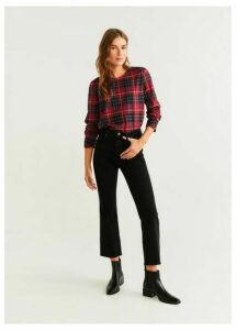Checked print blouse