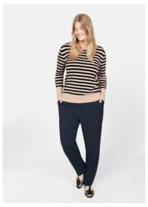 Horizontal-stripe sweater