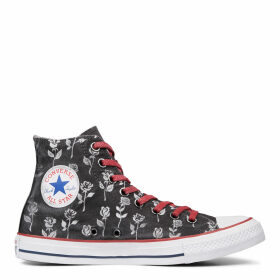 Chuck Taylor All Star Black Flowers High Top