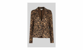 Animal Jacquard Jersey Jacket