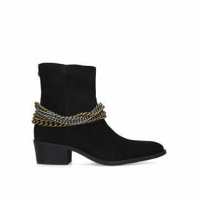 Kurt Geiger London Russel Boot - Men's Black Chain Detail Ankle Boots