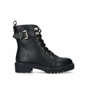 KG Kurt Geiger Taya - Black Lace Up Biker Boots