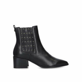 Carvela Tingle - Black Studded Block Heel Ankle Boots