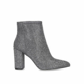 Carvela Shine - Metallic Embellished Block Heel Ankle Boots