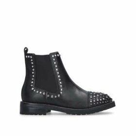 Kurt Geiger London Raven - Black Studded Ankle Boots