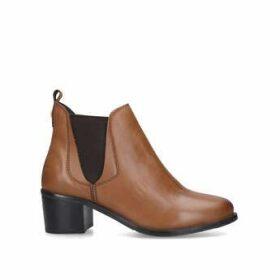 Carvela Comfort Ronald - Tan Block Heel Ankle Boots