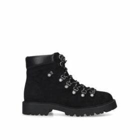 Kg Kurt Geiger Timmy - Black Chunky Lace Up Hiker Boots