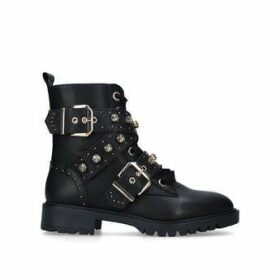 KG Kurt Geiger Trixabel - Black Studded Biker Boots