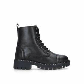 Aldo Gwemma - Black Lace Up Biker Boots
