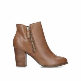 Aldo Naedia - Tan Block Heel Ankle Boots